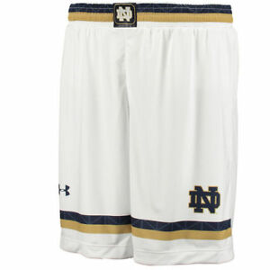 Notre Dame Fighting Irish Under Armour Lacrosse Replica Shorts - White - NCAA