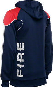 RARE~Adidas CHICAGO FIRE Hoody jersey PACKABLE Track Sweat shirt Jacket Top~2XL-