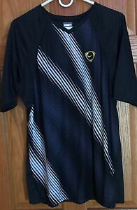 NIKE FIT DRY TEMPO V-Neck SS Athletic Shirt...Mens Size L....SPRING!