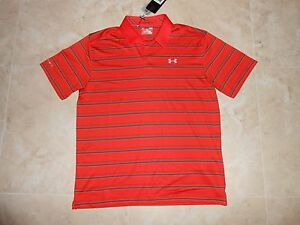 NWT UNDER ARMOUR Polo GOLF Heat Gear Loose Fit Shirt Mens Large  L MRSP $70