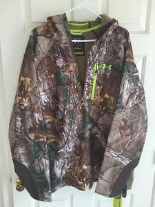 Under Armour XXL Camo COLDGEAR STORM 2 Infrared Hunting Softershell Anorak NEW