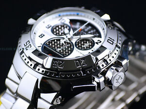 New $2395 Invicta Reserve 50mm Swiss Cage Dial Retro Chrono High Polish Watch