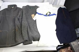 Lot of 38 Mens Golf Shirts Jacket Woolrich Nike Under Armour MSRP $1520