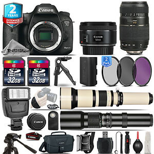 Canon EOS 7D Mark II Camera + 50mm 1.8 STM + 70-300mm + 2yr Warranty - 64GB Kit