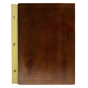 MENU HOLDER A4 SIZE WOODEN leather RESTAURANT PUB HOTEL BAR TABLE engraving NEW