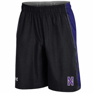 Northwestern Wildcats Under Armour Woven Training Shorts - Black - NCAA
