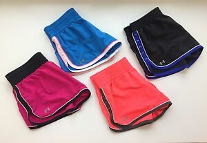 UNDER ARMOUR Lot 4 Womens Medium Semi-Fitted Great Escape Shorts w Brief