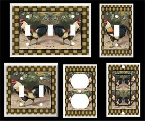 COUNTRY ROOSTER PRIMITIVE LIGHT SWITCH COVER PLATE  # 1 HOME DECOR