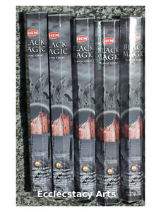 Hem Black Magic incense 5 x 20 Stick Box, 100 Sticks (WICCA) Bulk Lot NEW {:-)