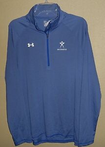 NEW WOMENS XL UNDER ARMOUR HEATGEAR LOOSE 12 ZIP TEAM USA GYMNASTICS SHIRT TOP