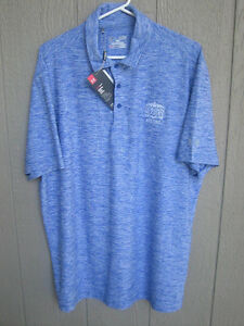 NEW BLUE UNDER ARMOUR POLO GOLF SHIRT LOOSE FIT XL GOLDEN NUGGET CASINO BILOXI