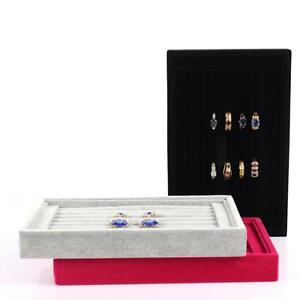 Beauty Jewellery Ring Necklace Display Storage Box Tray Holder Organizer Case S