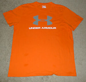 Mens Extra Large XL Under Armour UA Sportstyle Large Logo Tee T-Shirt HeatGear