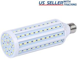 150W Equivalent LED Bulb 120-Chip Corn Light E26 2600lm 24W Cool Daylight 6000K