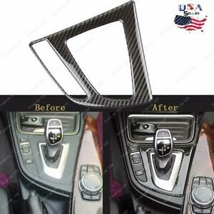 Carbon Fiber Gear Shift Panel Interior Trim Decor Sticker For BMW 3 4 Series