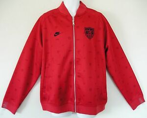RARE~Nike USA PRINTED US Soccer Track sweat shirt jersey Jacket Top~Mens size XL