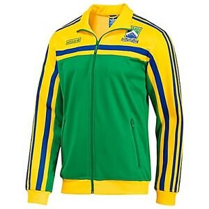 NWT~Adidas Originals BRAZIL firebird Track Top sweat shirt Jacket Brasil~Mens XL