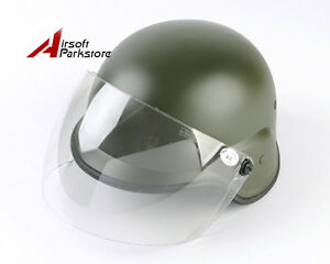 Tactical M88 PASGT Kelver Swat Helmet wClear Visor Airsoft Paintball Olive Drab