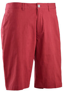 Ashworth Stretch Pinstripe Slub Short Flag Red 34