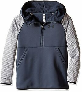 Under Armour Girls Armour Fleece Printed 12 Zip Hoodie Stealth GrayBlack