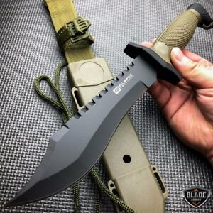 12quot; COMBAT TACTICAL SURVIVAL HUNTING KNIFE w SHEATH MILITARY Bowie Fixed Blade