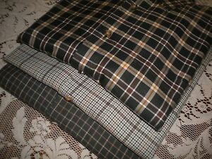 Brooks Brothers Sport Casual Shirt Lot of 2 Earth Tone Brown Plaid Medium R820
