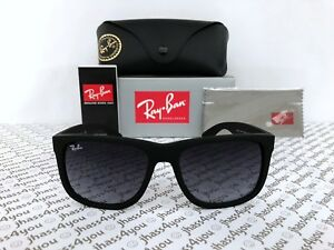 Ray-Ban Justin RB4165 6018G Wayfarer SunglassesMatte BlackGrey Gradient 54mm