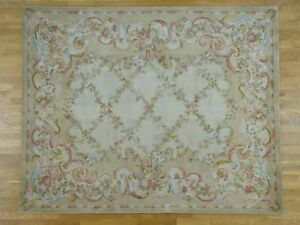12'x15' Oversize Savonnerie Floral Trellis Design Thick And Plush Rug R36896