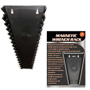 1 Universal Magnetic Wrench Tray SAE Metric Socket Rack Toolbox Organizer Holder