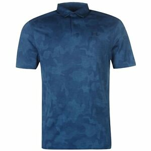 Under Armour Mens Polo Shirt Tee Top Camouflage HeatGear Pattern Short Sleeve