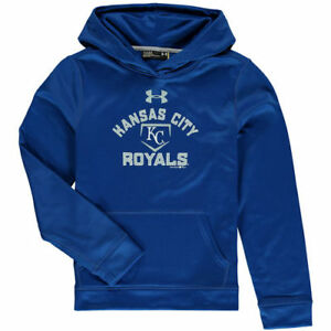 Kansas City Royals Under Armour Youth Fleece Pullover Hoodie - Royal - MLB