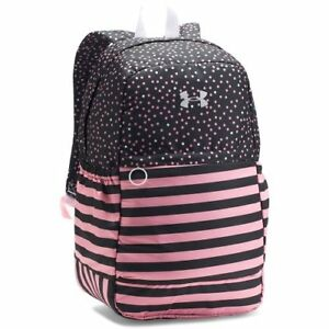 Under Armour Girls Favorite Backpack BlackPop Pink One Size UA Storm Tricot