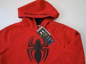 Under Armour Marvel Spider Man Alter Ego Boys Large 14-16 Cold Gear Storm Hoodie