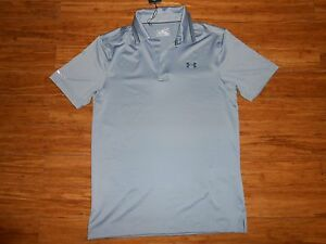 NWT UNDER ARMOUR GOLF POLO SHIRT LOOSE FIT MENS S SMALL COLDBLACK MRSP $70