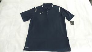 NIKE MENS DRI-FIT TEAM GAMEDAY POLO SHIRTS NAVY SIZE L LARGE