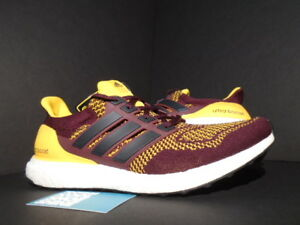 ADIDAS ULTRA BOOST M ARIZONA STATE SUN DEVILS ASU MAROON RED GOLD WHITE AQ7848