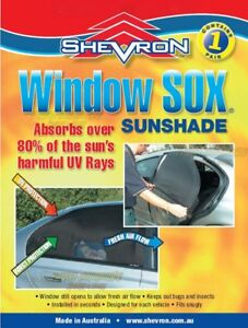 Shevron Window Socks Sox for Toyota Camry ASV50 SEDAN 122011 on
