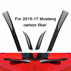 Carbon Fiber Rear view Mirror Decor Trim Sticker For 2015- 2017 Ford Mustang