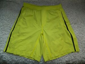 Men's Lululemon Pace Breaker Athletic Running Shorts w Liner Size XL Yellow