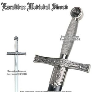35quot; Excalibur Medieval Style Crusader Arming Sword With Sheath