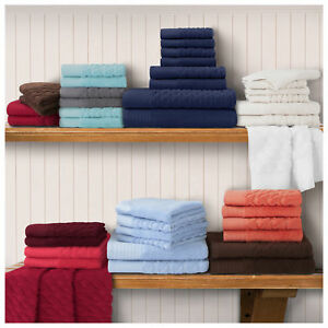 Pure Turkish Cotton 8-Piece Towel Set