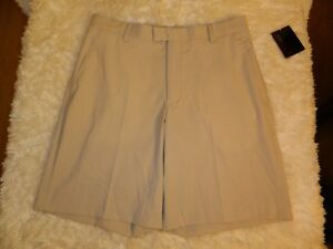 Men's Nike Tiger Woods Collection Dress Flat Front Golf Shorts Size 33 Beige