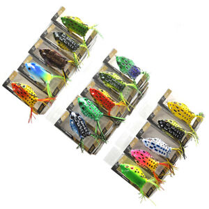 Wholesale 60pcs 14g 5.5cm Silicone Frogs Soft Lures Snakehead Fishing w PVC Box