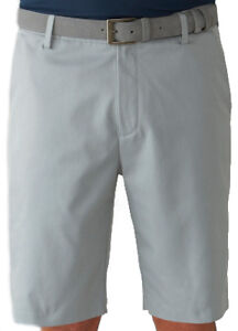 Ashworth Stretch Flat Front Short Medium Grey 34