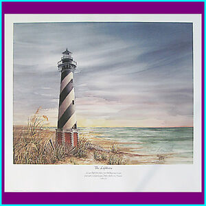 Donna Peters quot;LIGHTHOUSEquot; Signed Numbered and Dated Print $11.00