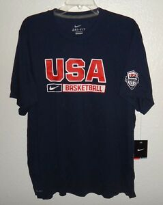NWT MENS XL NIKE DRI-FIT TEAM USA BASKETBALL ATHLETIC SHIRT US NATIONAL TEAM