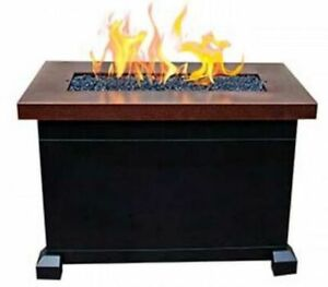 Camp Chef Monterey Propane Fire Table BlackCopper FP40 Camp Furniture