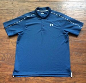 Under Armour Dry Dri Fit Sweat Wicking All Season Gear Golf Polo Shirt Mens XL
