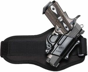 Fobus Ankle Handgun Holster Black Suede Right Hand - 1911 Compact Style C21BA