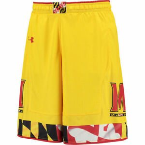 Maryland Terrapins Under Armour Replica Basketball Shorts - Gold - NCAA